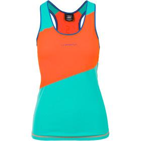 La Sportiva Drift - Camiseta sin mangas running Mujer - naranja/Turquesa